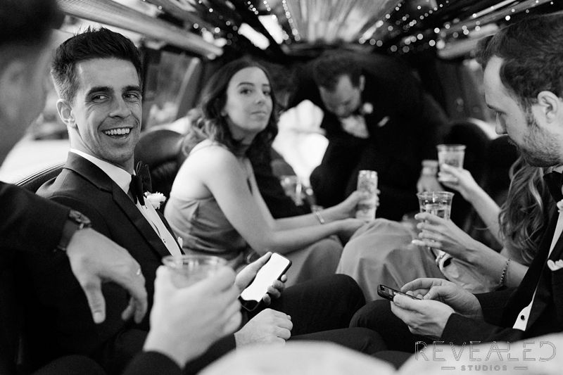 limousine wedding photos